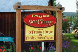 Foote's Rest Sweet Shoppe Printed Sign